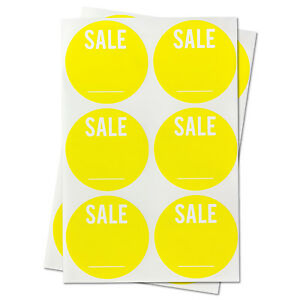 Blank Labels Garage Sale Retail With Write Your Own Price Stickers 10 Rolls