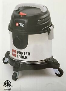 Porter Cable Stainless Steel Wet dry Vacuum 4 Gallons 15 1 L 4 0 Peak Hp