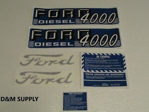 Ford Tractor Decal Set 4000 Select O Speed Diesel Stickers 1115 1546