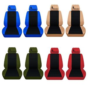 Car Seat Covers 2015 2017 Toyota Camry Front Set Princess Design 22 Colors Abf