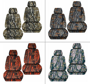 Front Car Seat Covers Camo Tree Gray Orange Green Pink Fits Liberty 2002 2012