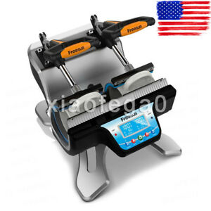 Freesub Automatic Double Mug Heat Press St 210 Sublimation Transfer Printing Usa