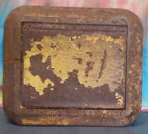 Antique Cast Iron Clean Out Door Chimney Wood Stove Kiln 8 6 1 8