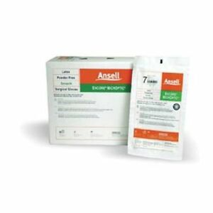 Ansell Encore Microptic Pf Latex Surgical Gloves Size 7 5 200pair cs 5787004