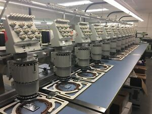 Barudan Commercial 12 Head 9 Needle embroidery Machine 1996 1998