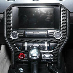 For 15 19 Mustang Carbon Fiber Style Middle Console Adjustment Button Cover Trim