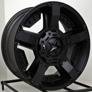 20 Inch All Black Wheels Rims Lifted Dodge Ram 1500 Truck Xd Series Rockstar Ii