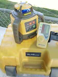 Topcon Model Rl h5a Rotating Laser Level With Ls 80l Laser Receiver