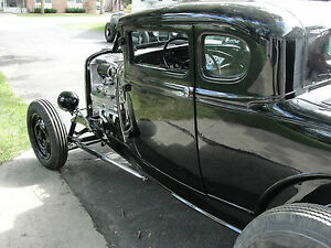 Ford Model A Coupe Drip Rails 30 31 Flathead Hot Rat Rod Scta New Gutters