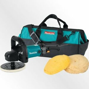 Auto Detailing Polisher Sander Kit Electric Buffing Car Vehicle 7in Pad Tool Bag