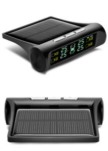 Car Tire Security Alarm Systems Cigarette Lighter Type Digital Lcd Solar Powered