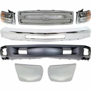 Bumper Kit For 2012 2013 Chevy Silverado 1500 Front With Air Intake Hole 7pc