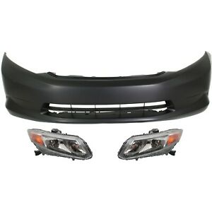 Bumper Cover Kit For 2012 Honda Civic Front 3pc