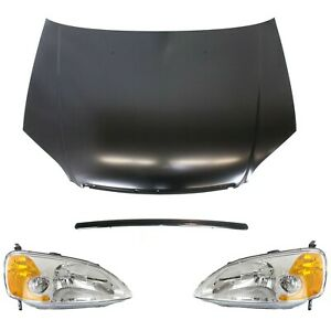 Headlight Kit For 2001 2003 Honda Civic 4pc