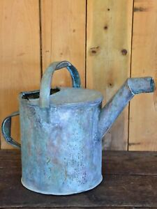 Antique French Watering Can With Bent Spout