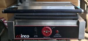 Winco 14 X 9 Inch Smooth Plate Commercial Panini Press Grill Model Esg 1