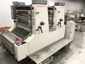 1990 Komori Sprint s226p 226 2 Color With Perfecter