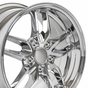 17x9 5 Chrome C7 Corvette Stingray Style Deep Wheels Set Of 4 Rims Fit Camaro