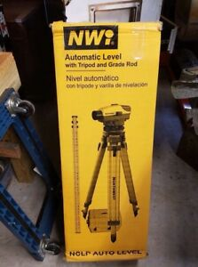 Nwi Automatic Level With Tripod And Grade Rod