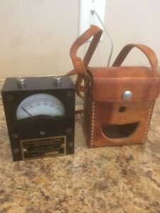 Vintage Dixson Galvanometer With Case Free Shipping