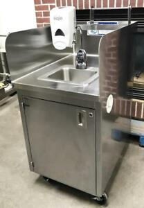 Qualserv Wmsc24ms Bakery Restaurant Kitchen Portable Hand Washing Station Sink