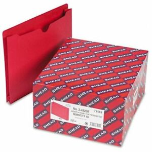 Smead 75569 Red Colored File Jackets Letter 8 50 Width X 11 Length Sheet