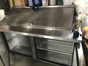60 True Refrigerated Sandwich Prep Table Model Qa 60 24m b