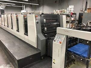 2004 Komori Nl628 c 6 Color With Coater New Lithrone 118 Million Impressions