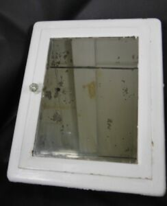 Antique Vintage Medicine Cabinet Metal With Mirror United Mfg 1920 S 2