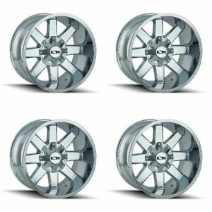 Set 4 20 Ion 141 Chrome Wheels 20x9 8x6 5 8x170 18mm Chevy Ford Gmc Ram 8 Lug