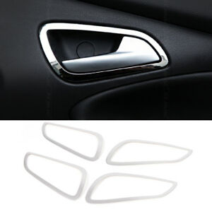 4 Pcs Car Interior Doors Hand Clasping Trim Ring For Ford Focus 3 Mk3 2012 2013