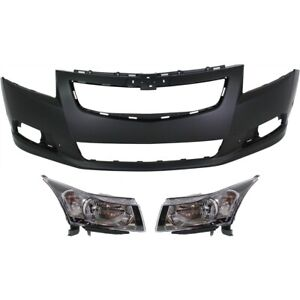 Bumper Cover Kit For 2011 14 Chevrolet Cruze Models With Rs Package 3pc