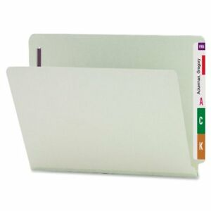 Smead 34705 Gray green End Tab Pressboard Fastener File Folders With smd34705