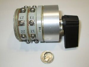 Janco 17106 2 Pole 4 Position special Enclosed Rotary Switch Nos 1 Pc