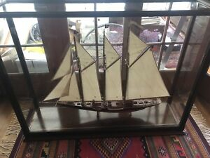 Large Ship Model The Atlantic Transatlantic Record Holder 52 X14 5 X39 W Case