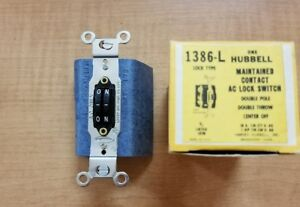 Hubbell Maintained Contact Ac Lock Switch 1386 l New