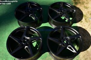 20 Ferrari 458 Italia Bbs Oem Staggered Genuine Factory Wheels Black 5x114