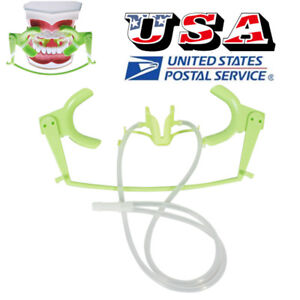 Dental Oral Dry Field System Opener Lip Cheek Retractor Suction System Green
