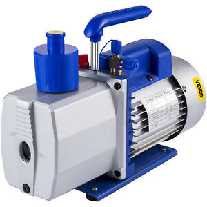 9cfm 2 Stages Vacuum Pump 1hp Air Conditioning 3x10 1pa 25 Microns Oil Capacity