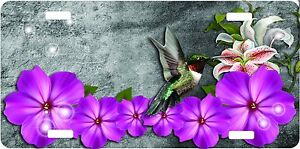 Any Text Personalized Custom License Plate Auto Car Tag Hummingbird