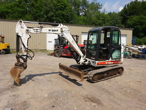 Bobcat 335g Mini Excavator Runs Mint 4600 Hrs Full Cab Heat A c 335 g