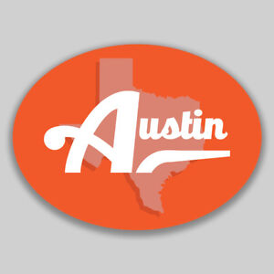 Austin Texas Oval Vinyl Decal Sticker City Town College University