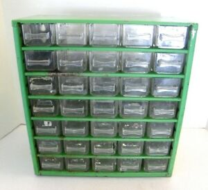 Vintage Metal 35 Drawer Nut Bolt Parts Storage Cabinet Bin Organizer Denmark