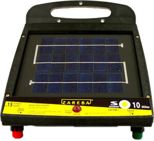 Livestock Control Fence Wall Charger Solar Powered Battery Electric 10 Mile New