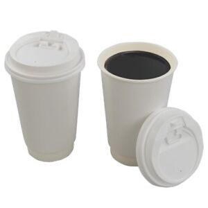 Saedy 16 Oz Disposable Hot Coffee Paper Cups With Lids 100 Counts