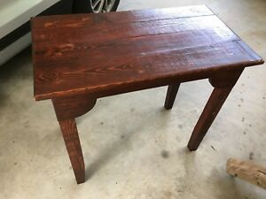 Hand Made Primitive Farm Table Kitchen Island Desk Local Pu Only 32 X 27