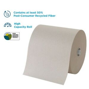 Georgia Pacific 26495 8 High capacity Recycled Paper Towel Roll Brown 6 cs