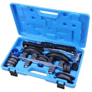 7 Dies Aluminum Ratchet Manual Tube Bender Refrigeration Tubing W Pipe Cutter
