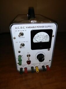 Ac dc Variable Power Supply Sargent Welch Scientific Co Vintage Parts not