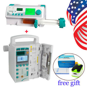 Iv Fluid Infusion Pump Injection Monitor Audible Visual Alarm Syringe Pump Kvo